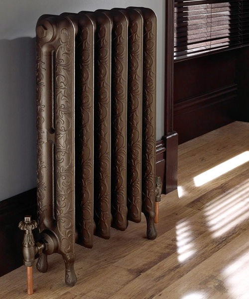 Imperial Tumba Cast Iron Radiator 4 Bar With Standard Valve