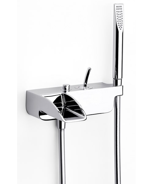 Roca Evol Wall Mounted Bath Shower Mixer Tap With Kit