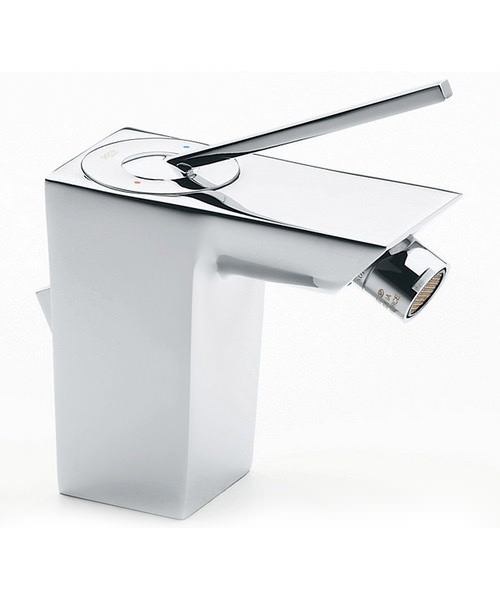 Roca Touch Bidet Mixer Tap With Pop Up Waste