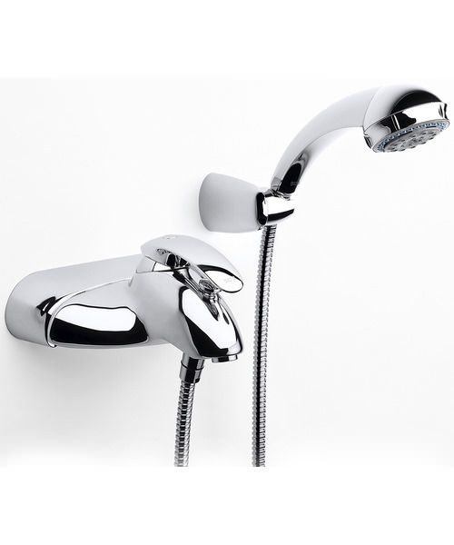 Roca Amura-N Wall Mounted Bath Shower Mixer Tap With Kit
