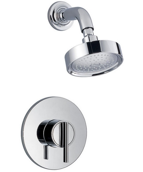 Mira Silver BIR Built In Rigid Thermostatic Mixer Shower Chrome