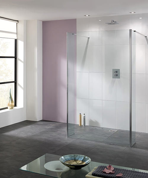 Lakes Coastline Riviera Walk In Shower Panel With Bypass Panel