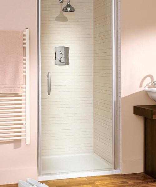 Lakes Italia Elegance Affini Semi-Frameless Pivot Shower Door 700mm