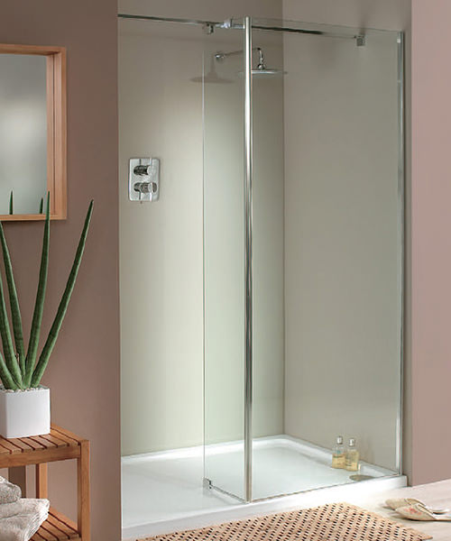 Lakes Italia Modula Mileto Walk In Shower Enclosure 1600 x 750mm