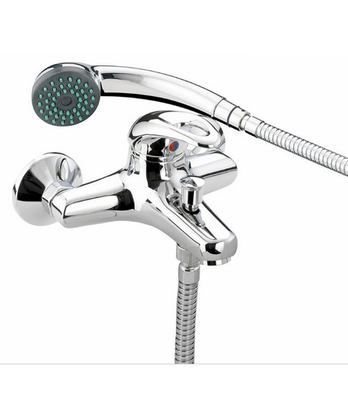 Bristan Java Wall Mounted Bath Shower Mixer Tap With Shower Kit