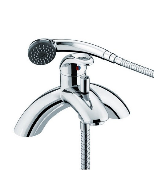 Bristan Java Single Lever Pillar Bath Shower Mixer Tap With Kit