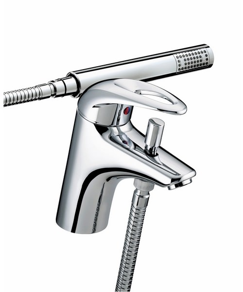 Bristan Java 1 Hole Bath Shower Mixer Tap With Shower Kit