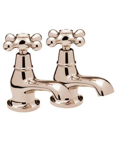 Tre Mercati Victoria Pair Of Basin Taps Antique Gold