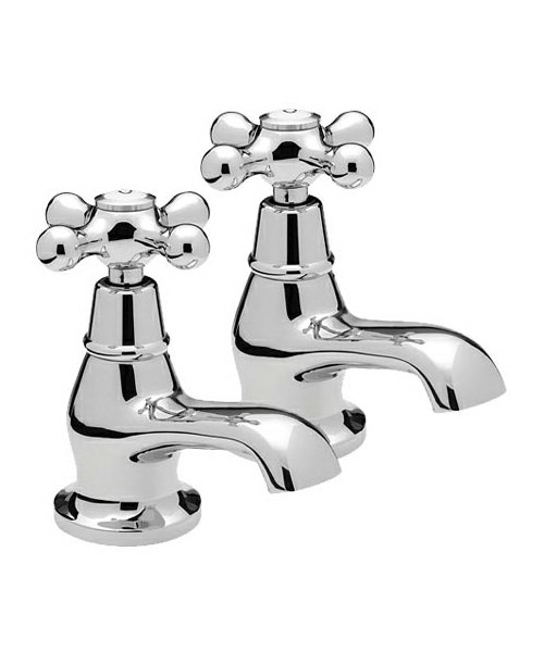 Tre Mercati Victoria Pair Of Bath Taps Chrome