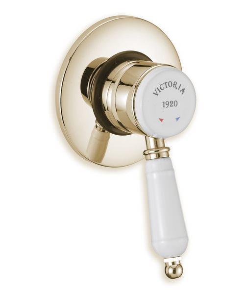 Tre Mercati Victoria Exposed Concealed Manual Shower Valve Antique Gold