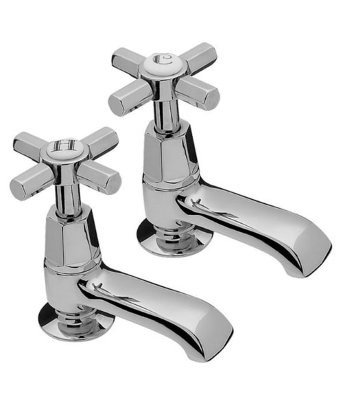 Tre Mercati Charleston Chrome Pair Of Bath Taps