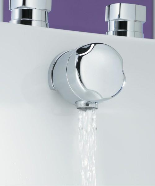 Tre Mercati 1 1-2 Inch 60cm Automatic Bath Filler Waste Chrome