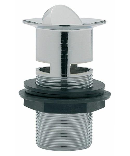 Tre Mercati Unslotted Flip Plug Basin Waste With Solid Plug Chrome