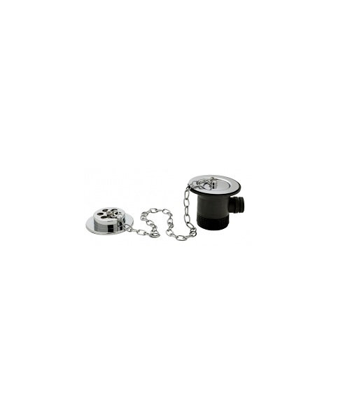 Tre Mercati Chrome Bath Waste And Overflow With Solid Plug