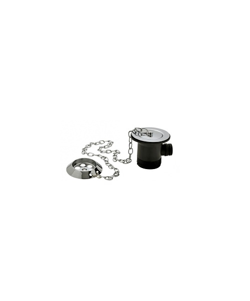 Tre Mercati Chrome Bath Waste And Overflow With Parking Plug