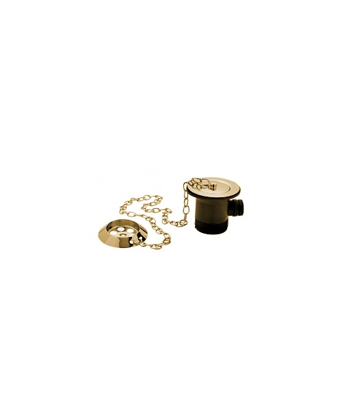 Tre Mercati Gold Bath Waste And Overflow With Parking Plug