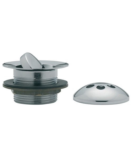 Tre Mercati Flip Plug Bath Waste With Solid Plug And Overflow