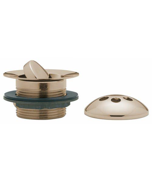 Tre Mercati Antique Gold Flip Plug Bath Waste With Solid Plug