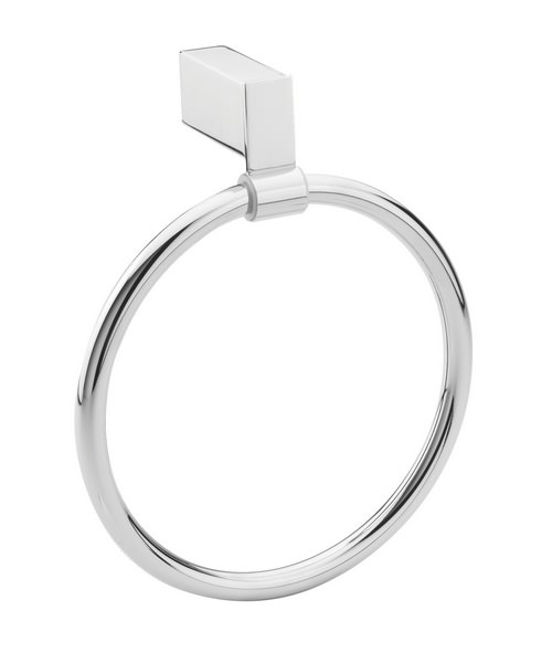 Tre Mercati Edge Towel Ring Chrome