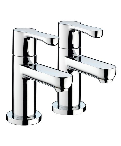 Bristan Nero Pair Of Basin Taps