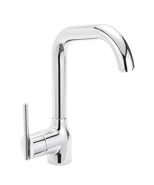 Tre Mercati Solar Mercury Satin Chrome Mono Sink Mixer Tap