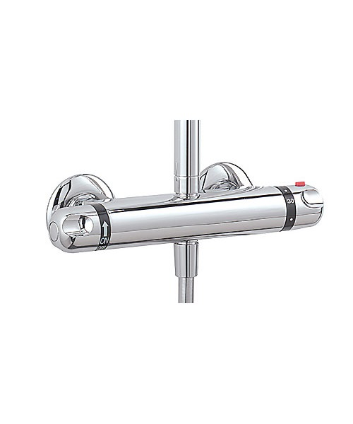 Tre Mercati Roma Exposed Thermostatic Double Ended Shower Valve