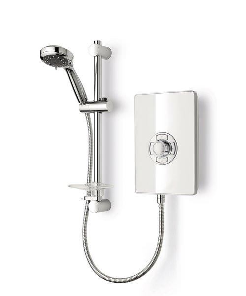Triton Aspirante White Gloss Electric Shower 8.5 KW