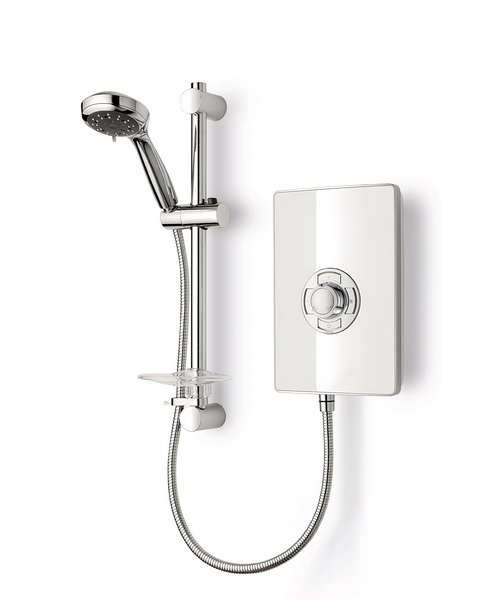 Triton Aspirante White Gloss Electric Shower 9.5 KW