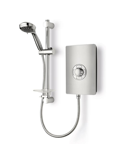 Triton Aspirante Brushed Steel Electric Shower 8.5 KW