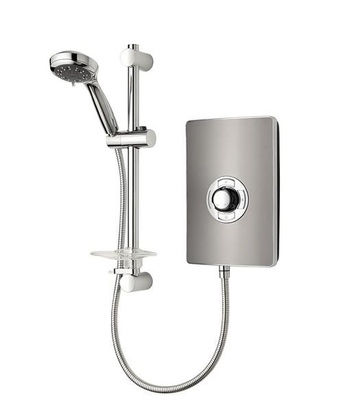 Triton Aspirante Gun Metal Electric Shower 9.5 KW