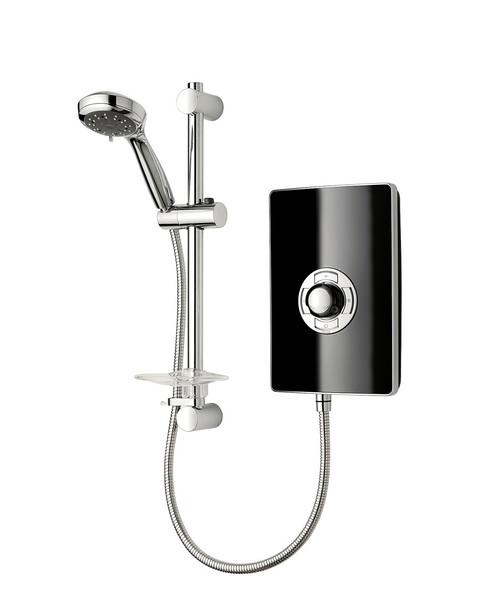 Triton Aspirante Black Gloss Electric Shower 9.5 KW