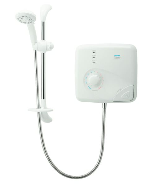 Triton T150Z Pumped Thermostatic Electric Shower 8.5 KW White-Chrome