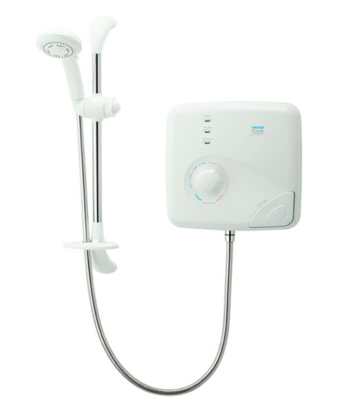 Triton T150Z Pumped Thermostatic Electric Shower 9.5 KW White-Chrome