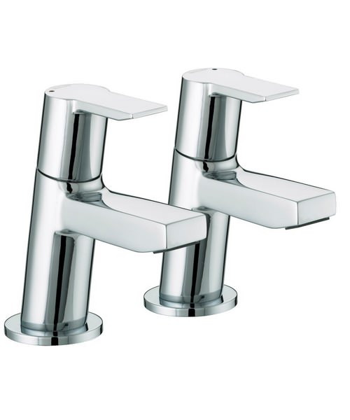 Bristan Pisa Chrome Plated Bath Taps Pair