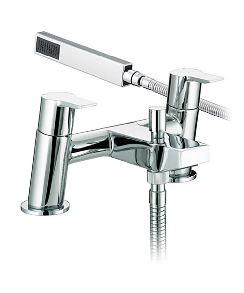 Bristan Pisa Chrome Plated Bath Shower Mixer Tap With Kit