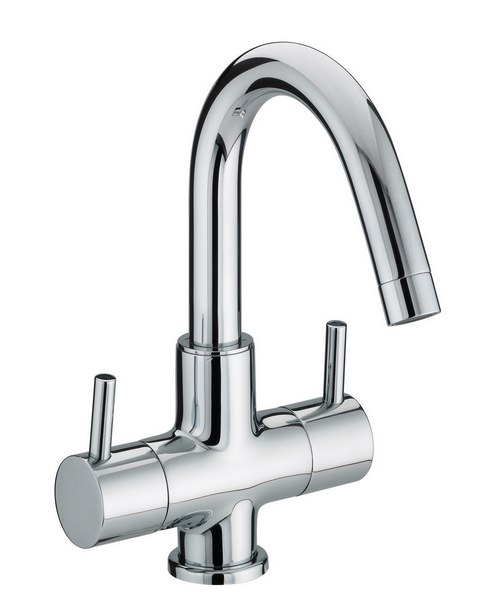 Bristan Prism 2 Handled Basin Mixer Tap Without Waste