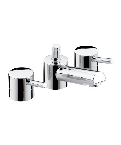 Bristan Prism 3 Hole Basin Mixer Tap With Pop-Up Waste