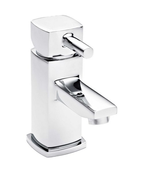 Ultra Munro Mini Mono Basin Mixer Tap With Push Button Waste