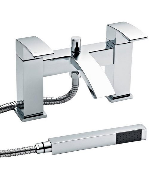 Ultra Vibe Bath Shower Mixer Tap With Shower Kit And Wall Bracket