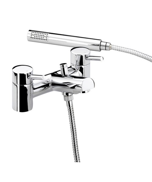 Bristan Prism Pillar Bath Shower Mixer Tap With Kit