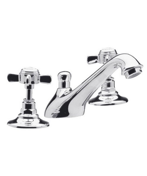 Ultra Beaumont 3 Tap Hole Basin Mixer Tap With Pop-Up Waste