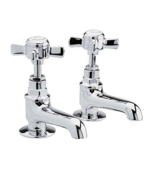 Ultra Beaumont Chrome Finished Basin Taps