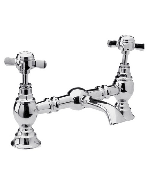 Ultra Beaumont Luxury Bridge Basin Mixer Tap Without Waste