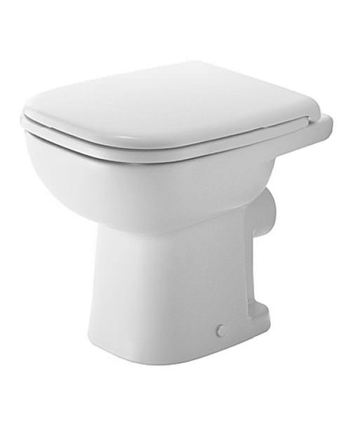 duravit d code white 350 x 480mm floor standing toilet. Black Bedroom Furniture Sets. Home Design Ideas