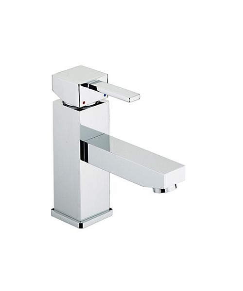 Bristan Quadrato Basin Mixer Tap With Eco-click And Pop-Up Waste