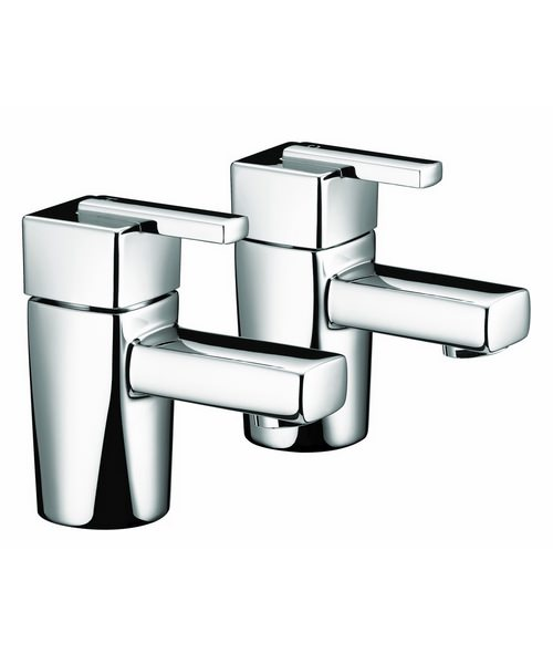 Bristan Qube Chrome Plated Basin Taps Pair