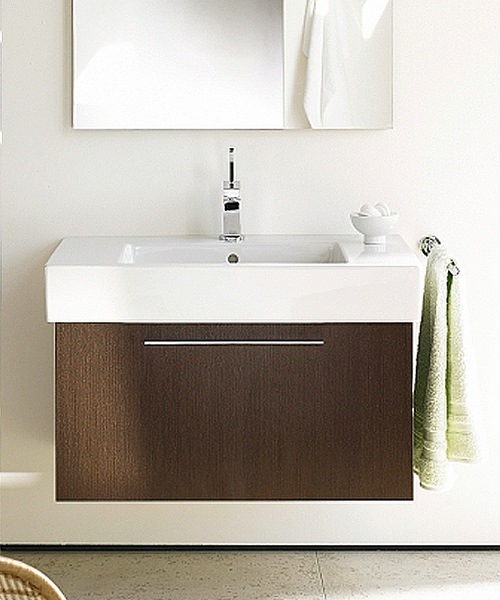 Duravit Fogo American Walnut 550mm Vanity Unit With 600mm Basin