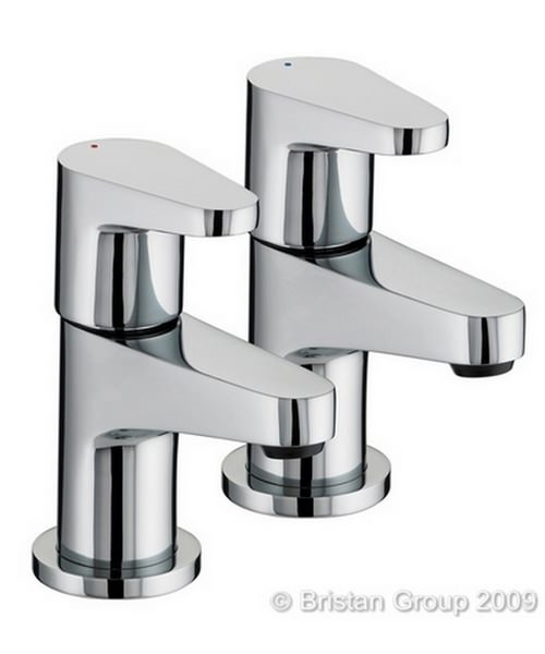 Bristan Quest Chrome Plated Bath Taps Pair