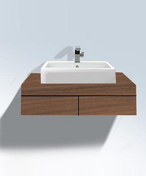 duravit fogo american walnut 550 x 1200mm console with drawer. Black Bedroom Furniture Sets. Home Design Ideas