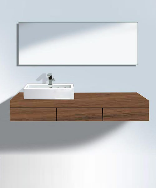 duravit fogo american walnut 1800mm console with left cut out. Black Bedroom Furniture Sets. Home Design Ideas